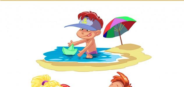free-vector-cartoon-children-summer-beach-vector_094358_01